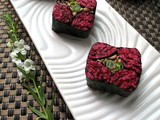5-Star Makeover: Beetroot Shikai Maki with Shiitake Mushroom and French Bean Filling