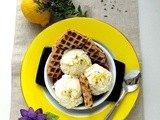 Lemon Curd and Lavender Ice Cream