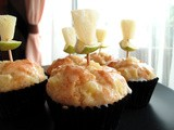 Muffin Monday - Honey Pineapple Olive Oil Muffins with Lime Glaze