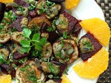 Roasted Eggplant and Beetroot Smothered in Moroccan Chermoula Sauce