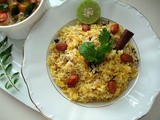 Saffron Rice with Golden Raisins and Almonds for 'An Edible Mosaic's' Virtual Cookbook Launch Party