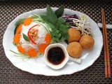 Vegan Bún Chay (Vietnamese Noodle Salad) with Tofu Cheese Balls