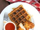 Buttermilk Fried Chicken and Sweet Potato Waffles, from Bon Appetit