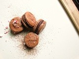 Chocolate Candy Cane Macarons