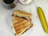 Grilled Steak Panini with Fontina Cheese and Caramelized Onions