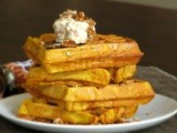 Pumpkin Waffles with Bacon Maple Butter
