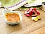 Rhubarb and Ginger Creme Brulee