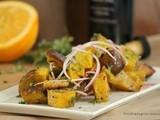 Roasted Golden Beets with Orange Vinaigrette