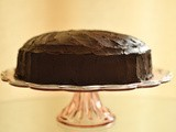 Birthday Chocolate Cake with Rum and Thick-Cut Orange Filling