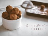 Easy Rum and Blueberry Chocolate Truffles (and the very first taste of chocolate)