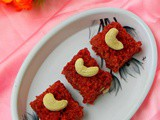 Beetroot Burfi Recipe / Beetroot Coconut Burfi
