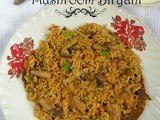 Mushroom biryani / kalan biryani recipe (south indian style)