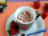 Vanilla Strawberry Mug Cake / Eggless Microwave Cake Recipe
