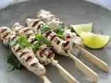 Chicken Satay with Cucumber Coco salad /// Kip Sate met Komkommer cocos salade