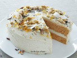 Raw Carrot cake with lemon icing