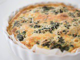 Spinach and Salmon quiche / Quiche au saumon et aux épinards
