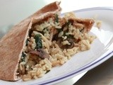Apple Chicken Sausage & Almond Brown Rice Stuffed Pita