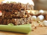 Chocolate Pistachio Protein Bars w/ Mini Marshmallows