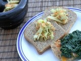 Grilled Chicken and Spinach Melt w/ Kiwi Apple Coleslaw