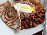 Guilt Free Bandeja Paisa w/ Homemade Turkey Sausage- Breakfasts of the World Challenge