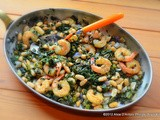 Red Russian Kale Cannellini Beans & Shrimp w/ Ally's Kitchen