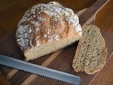Easy No Knead Bread: Multigrain Wheat
