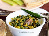 Palak Paneer Bhurji (Spinach with Grated Cottage Cheese)