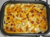 Gratin with potatoes and pleurot mushrooms