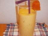 Lassi with mango and pineapple