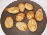Madeleines and muffins with roquefort and walnuts