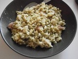 Risotto with ham and peas
