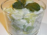 Verrine : cucumber salad with yogurt