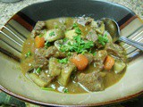 Beef Stew With Mushrooms, Rosemary And Tomatoes