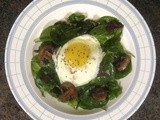A Slightly Wilted, Very Tasty, Surprisingly Filling, Spinach Salad