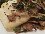 Broiled Halibut with Mushrooms