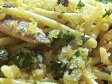 Spaghetti with White Anchovies & Capers