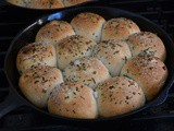 Buttered Rosemary Dinner Rolls #SundaySupper