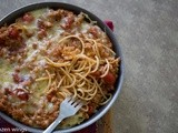 Baked Spaghetti With Meat Sauce ( 焗肉酱意粉 )