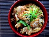 Chicken and Egg One Bowl rice dish ( Oyako-Don )
