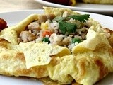 Fried Rice in Omelette Parcel