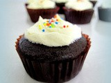 Frosted Chocolate Buttermilk Cupcakes