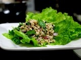 Laab Gai ( Thai Minced Chicken Salad )