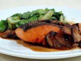 Pan Fried Salmon with Shitake Mushroom Sauce