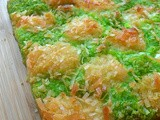 Pandan and Coconut Checkerboard Brownies