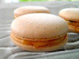 Vanilla Bean Macarons with Passionfruit Curd