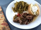 Italian Crock Pot Roast Beef