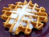 Pumpkin Waffles with Cream Cheese Syrup: Improve Challenge