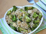 Broccoli Fried Rice | Broccoli Egg Fried Rice