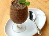 Chocolate Basil Seed Pudding