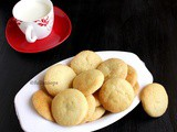 Eggless Butter Biscuits | Egg free Butter Cookies